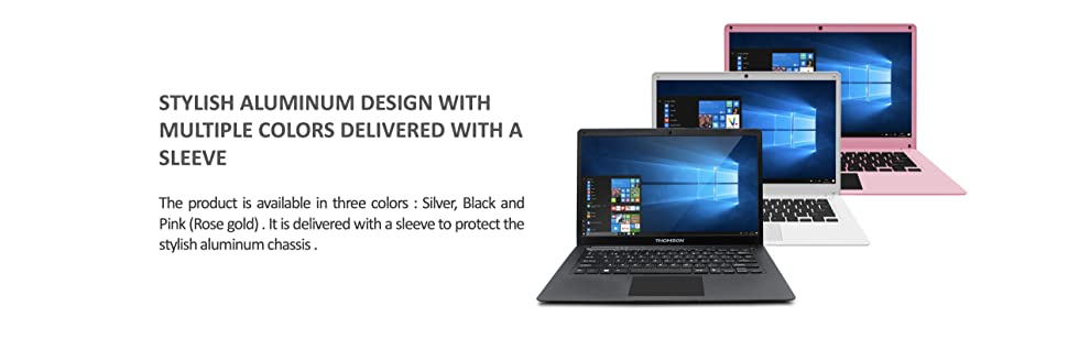 stylish aluminum design with multiple colors delivered with a sleeve