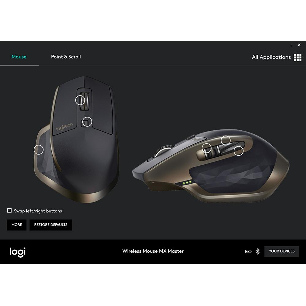 Logitech MX Master Wireless Mouse – Use on Any Surface, Ergonomic Shape,  Hyper-Fast Scrolling, Rechargeable, for Apple Mac or Microsoft Windows