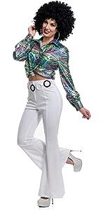 aec65d19 Disco pants · Red Flame Shirt · Gold Hologram Shirt · Glitter Shirt · Disco  Diva Shirt