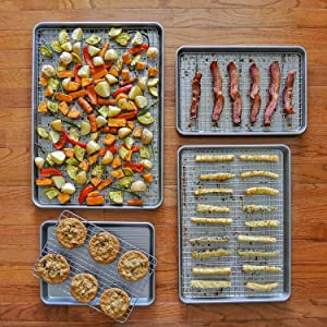 Sheet Pans and Baking/Cooling Racks all sizes