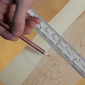 Dekton 300 MM Stainless Steel Ruler Imperial And Metric Markings Metal Ruler