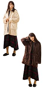 東京西川 西川 FQ98395598 あったかガウン 着る毛布 ふわとろ ふわふわ ガウン SEVENDAYS セブンデイズ