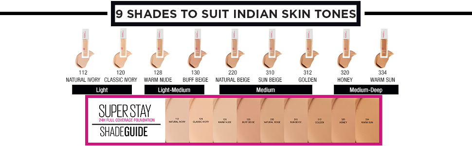 Maybelline New York Super Stay 24H Full coverage Liquid Foundation, 24 HR full coverage