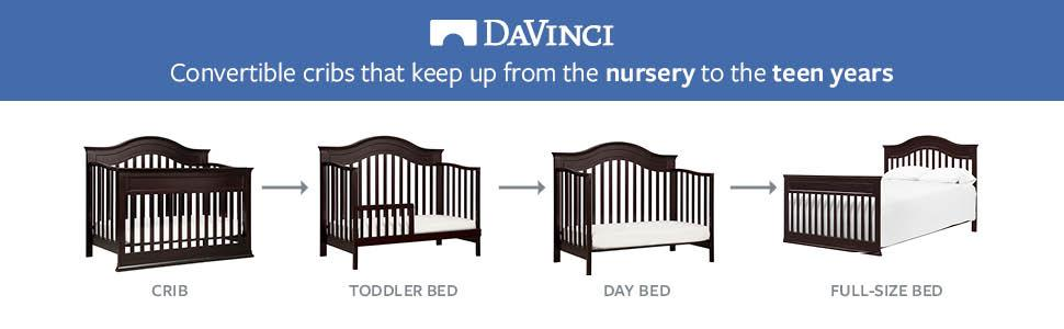 Amazon Com Davinci Brook 4 In 1 Convertible Crib With