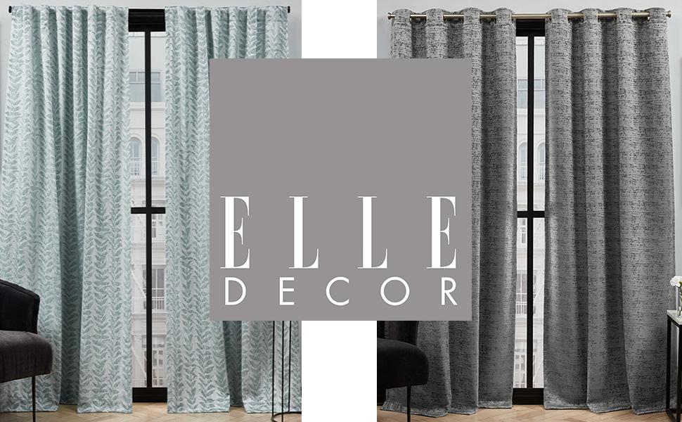 elle decor, elle decor home, exclusive home, elle decor curtains, curtains, curtain, drapes, drape