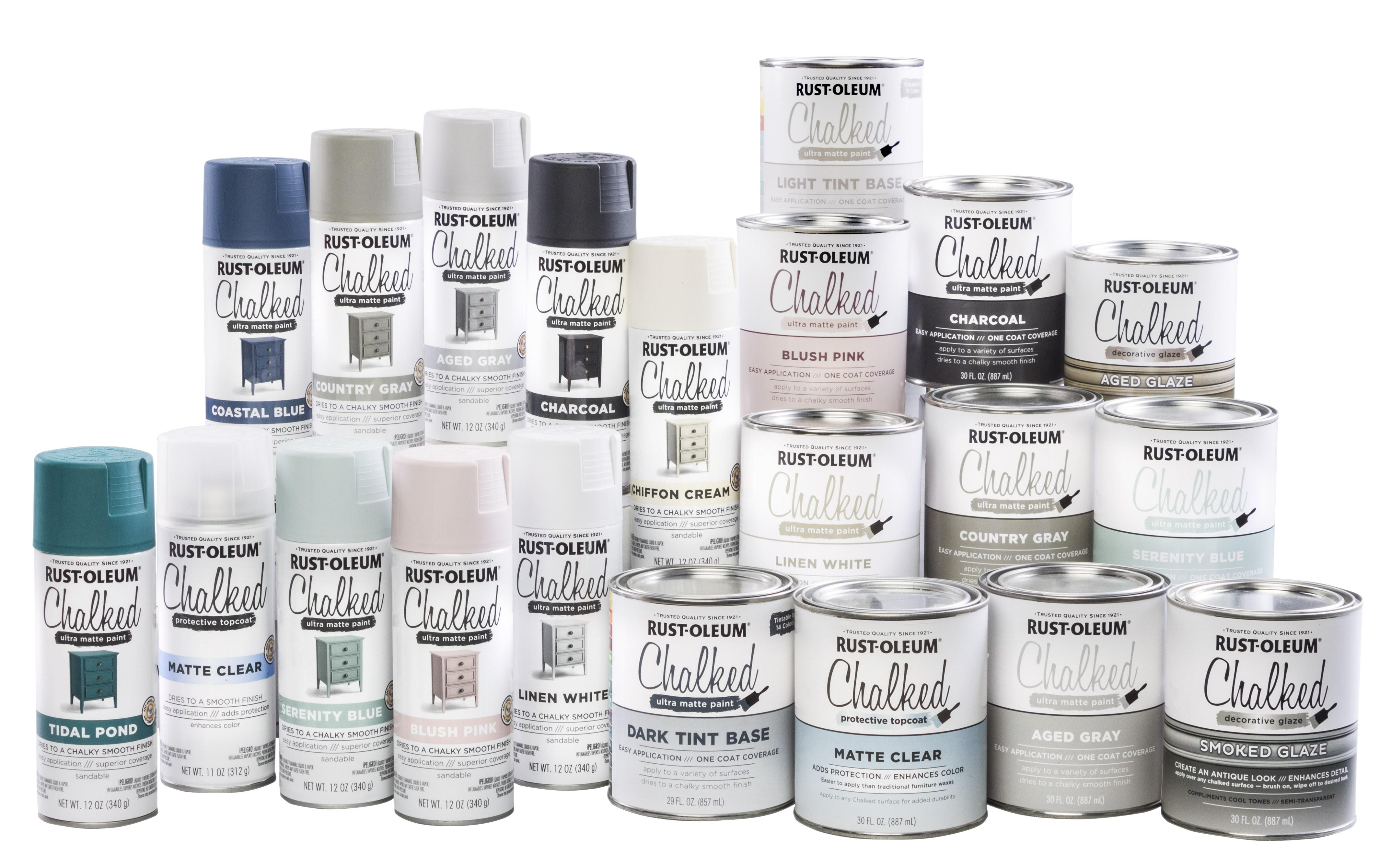 Rust Oleum 285140 Ultra Matte Interior Chalked Paint 30 Oz Linen White