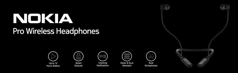 Nokia, nokia mobile, nokia pro wireless, bluetooth, headphones, IPX5, dual microphone