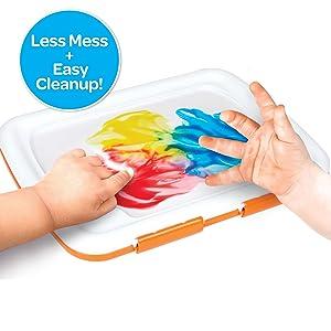 less mess paints, no mess paints, paint for little kids, art supplies, crayola paint, crayola paints