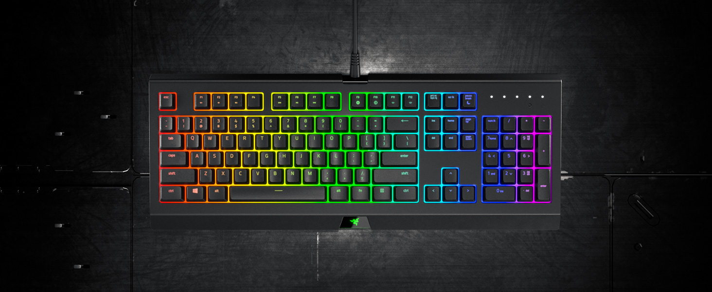 Razer Cynosa Chroma Gaming Keyboard with Razer Chroma RGB Lighting  (Individually Backlit Keys, Spill-Resistant Durable Design, Anti-Ghosting  and