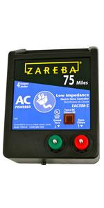 75 mile charger, fence energizer, fencing, zareba, ac power