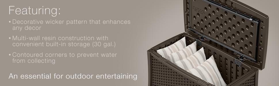 Amazon Com Suncast Elements Coffee Table With Storage