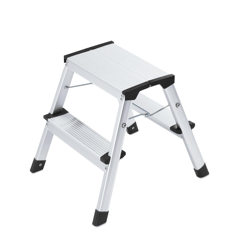 hailo l90 step ke doppelstufen alu klapptritt 3 stufen klappsperre belastbar bis 150 kg. Black Bedroom Furniture Sets. Home Design Ideas