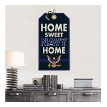 Sweet Home Navy Hanging Tag Sign