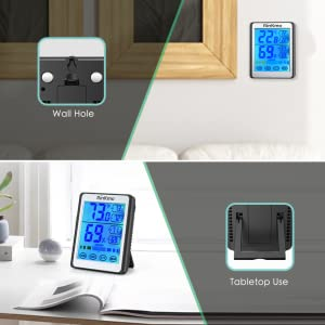 Digital LCD Indoor Hygrometer Humidity Monitor Stand