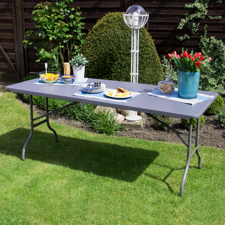 Park alley tavolo pieghevole adatto ad esterni giardino o terrazza o balcone 180 x 74 x 74 in - Tavolo pieghevole con maniglia ...