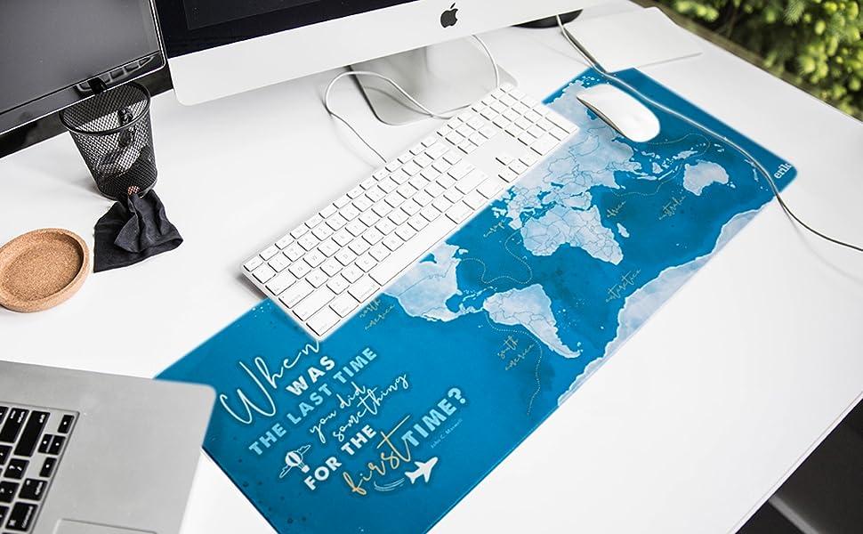 Grupo Erik Xxl Mauspad Weltkarte 35x80 Cm Bürobedarf Schreibwaren
