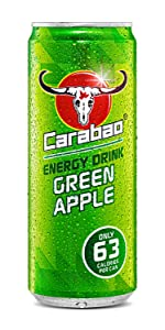 carabao;green;apple;energy;drink;low;sugar;calories;carabow;caraboa