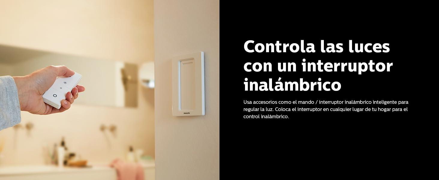 Controla las luces con el mando inalámbrico