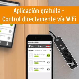 enchufe WiFi inteligente mando a distancia control por voz control por app zocalo