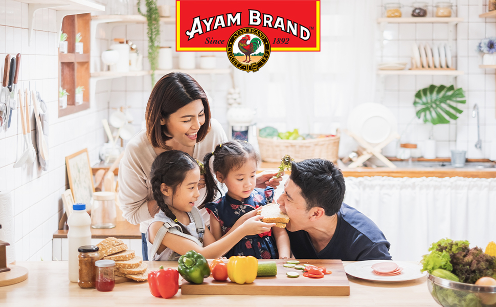 ayam brand canned fresh food quality fish vegetables sauces recipe cooking ready to eat authentic