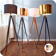 Versanora Romanza Grey Tripod Floor Lamp With Gray Finish Shade VNL00007GUK