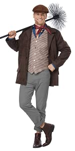 Victorian Men's Costumes: Mad Hatter, Rhet Butler, Willy Wonka California Costumes Mens Chimney Sweep - Adult Costume Adult Costume Brown Large/Extra Large $49.99 AT vintagedancer.com