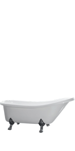 Ove Decors Clawfoot White Acrylic Bathtub