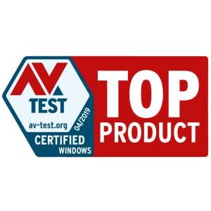 AV Test Top Product 04/19 Certified Windows AV Test.org