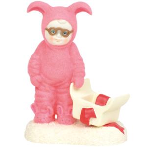 "Department 56 Snowbabies A Pink Nightmare Porcelain Figurine 4"""