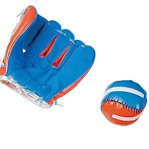 Baseball Glove Mitt /& Baseball Toys set HOT 1//6 Scale Metal Baseball Bat