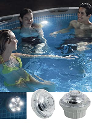 Intex 28691 - Luz led piscinas color blanca, conexión 32 mm y 0.8w ...