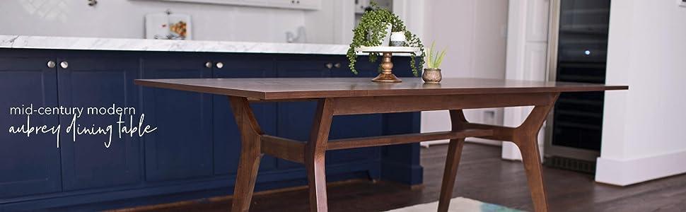 Amazon.com - AUBREY Mid-Century Modern Dining Table - 71 inches ...