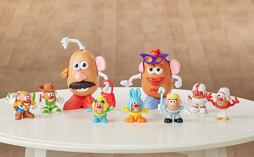 Disney Pixar TOY STORY 4 Mr Potato Head Set BUZZ WOODY FORKY DUKE CABOOM BO PEEP