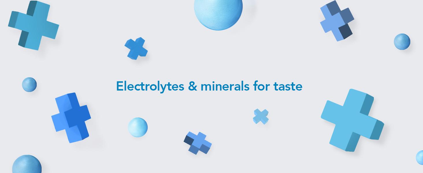 Electrolytes & minerals for taste