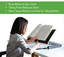 adjustable height angle ergonomic reading textbook stand holder