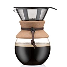 Bodum Pour Over Coffee Maker with Permanent Filter 1.0 L Cork