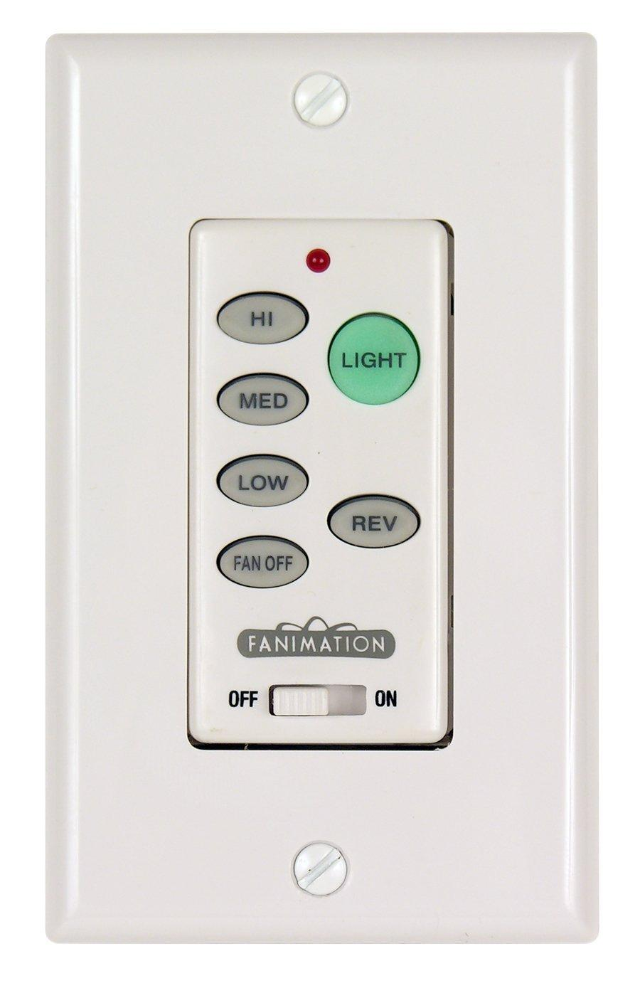 Fanimation C21 Ceiling Fan Wall Control  White