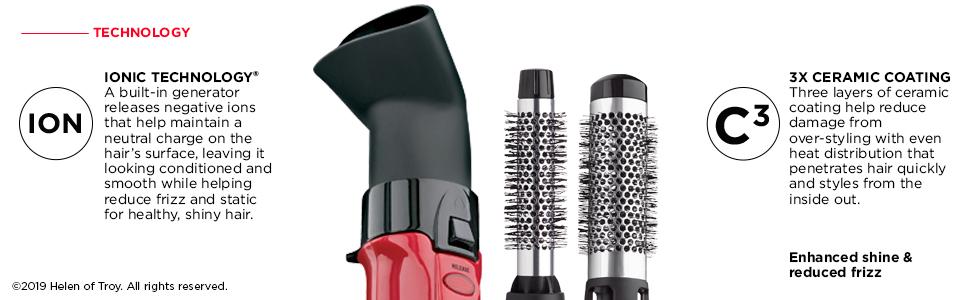 ionic, ions, ceramic, shine, shiny hair, add shine, less frizz, reduce frizz