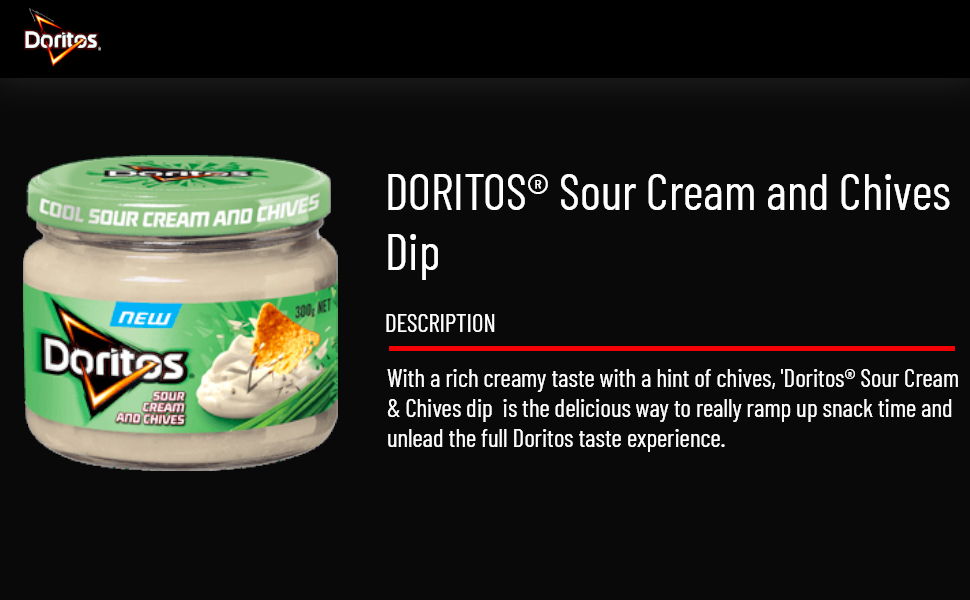 Doritos Cool Sour Cream and Chives Jar