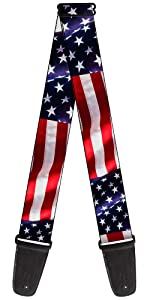 Vivid Waving USA United States Star Spangled Banner Flag Acoustic Electric Guitar Strap America