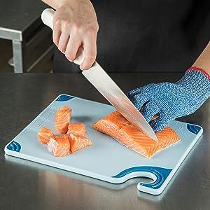 san jamar cutting board, san jamar, anti slip grip, saftgrip, cutting boards