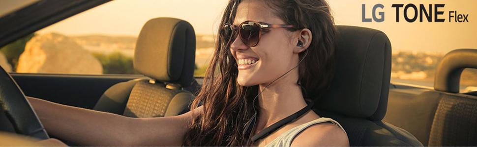 Amazon Com Lg Tone Flex Hbs Xl7 Bluetooth Wireless Stereo Neckband Earbuds With 32 Bit Hifi Dac Tune By Meridian Audio Black