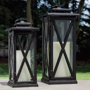 black metallic textured stops rust spray paint outdoor patio lantern