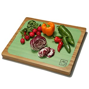 Bamboo cutting chopping slicing board block plastic wood map icons food safe home 7 mats