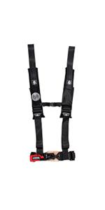 "PRP 5 Point Harness 3/"" Seat Belt PAIR SILVER Bypass Yamaha YXZ1000R YXZ 1000R"