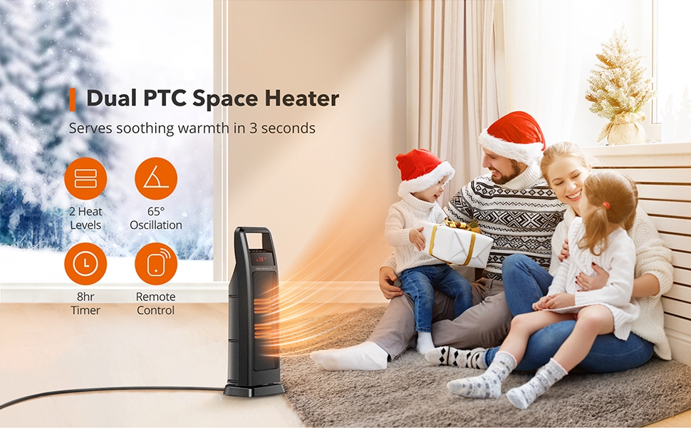 Dual space heater