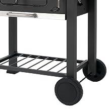 holzkohlegrill, grillwagen