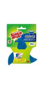 3M お風呂掃除 スポンジ すみ洗い用 スコッチブライト バスシャイン B-83