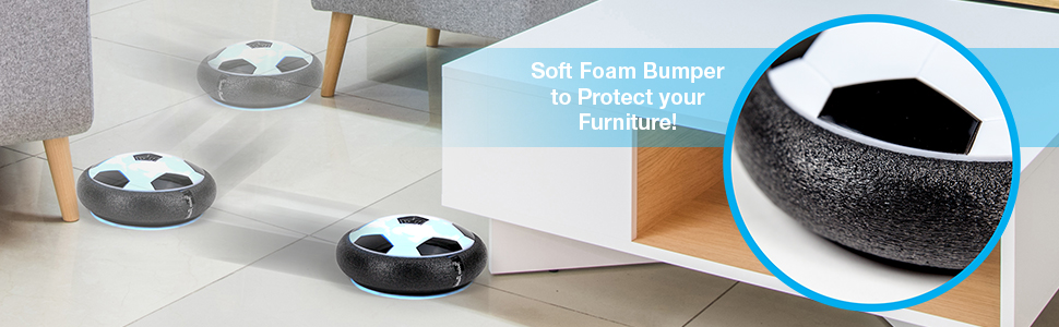 soft foam bumper to protect your furniture