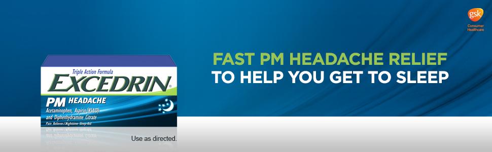 Excedrin PM, Sleep aid pain relief, Excedrin, Headache medicine, Headache relief